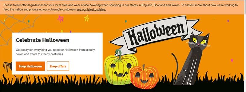 Sainsbury's hero image ecommerce example for holidays