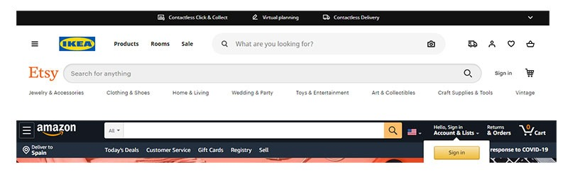 Search bar ecommerce store