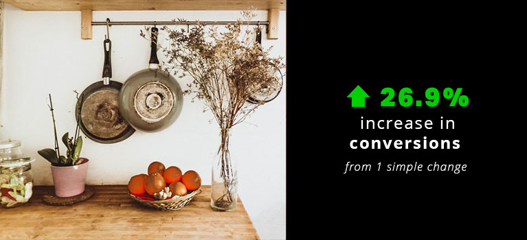 26.9% Increase for an eCommerce Business in the Homeware Niche.